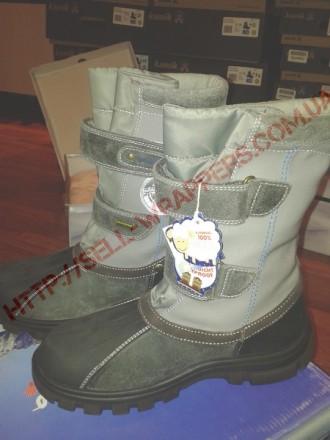 сапоги зимние NATURINO BOOTS ALPEN, размер 39, серые. Одесса. фото 1