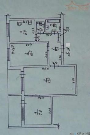 Предлагается к продаже 3-комнатная квартира на п. Котовского (Бочарова). Площадь. Селище Котовського, Одеса, Одеська область. фото 9