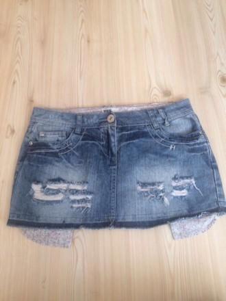 новая джинсовая  юбка , размер 10/38/L , лежала пару лет , но ни разу так и не н. Киев, Киевская область. фото 4
