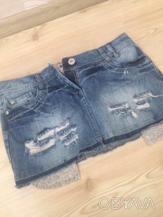 новая джинсовая  юбка , размер 10/38/L , лежала пару лет , но ни разу так и не н. Киев, Киевская область. фото 1