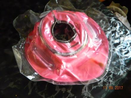 Продам круг для купания (цвет розовый).  Состояние новое. Внутри есть звенящие. Каменское, Днепропетровская область. фото 5