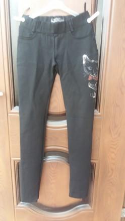 Черные штаны - леггинсы на подростка или худенькую мамочку. Никополь. фото 1