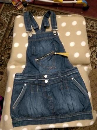 Крутой джинсовый сарафан. Никополь. фото 1