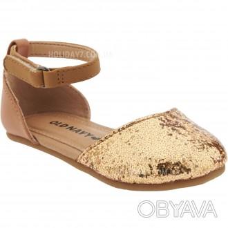 В наличии серебрмстые и золотистые туфельки для девочки от OLD NAVY (США)  раз. Луцк, Волынская область. фото 1