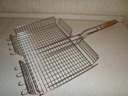 Решотка для гриля барбекю 40х30х6 см НЕРЖАВЕЙКА!!!. Бровары. фото 1