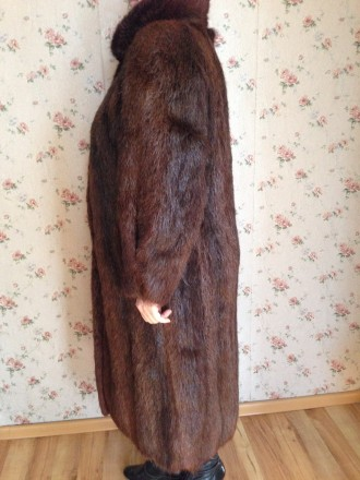 Женская шуба, мех нутрия, натуральная не крашенная, ручной работы, длина рукава . Обухов, Киевская область. фото 3