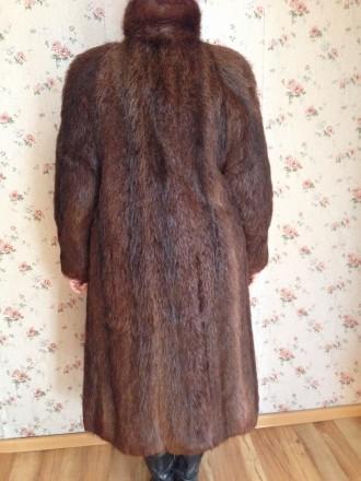 Женская шуба, мех нутрия, натуральная не крашенная, ручной работы, длина рукава . Обухов, Киевская область. фото 4