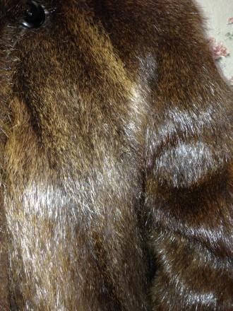 Женская шуба, мех нутрия, натуральная не крашенная, ручной работы, длина рукава . Обухов, Киевская область. фото 5