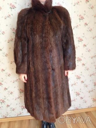 Женская шуба, мех нутрия, натуральная не крашенная, ручной работы, длина рукава . Обухов, Киевская область. фото 1