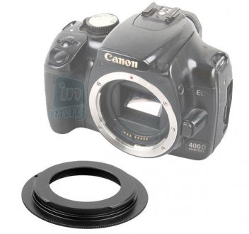 Переходное кольцо M42 - Canon, black.. Киев. фото 1