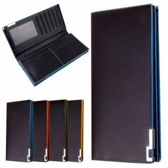 Мужской компактный кошелек портмоне длинный флип бумажник кошелёк. Николаев. фото 1