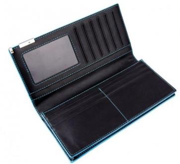 e0696aee557d ᐈ Мужской компактный кошелек портмоне длинный флип бумажник кошелёк ...