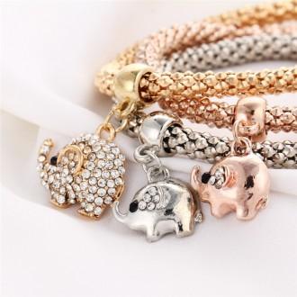 Женский Браслет 3 в 1 серебро золото бронза, шармы. Херсон. фото 1