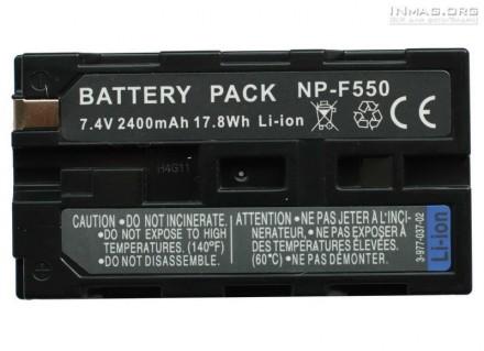 Аккумулятор Sony NP-F550 / NP-F570, 2200mAh для света . Гарантия 1 год. Киев. фото 1