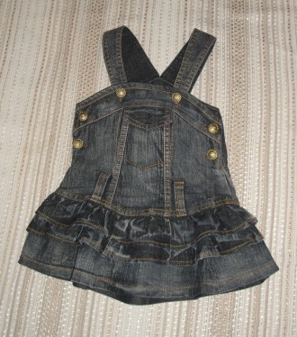 Сарафан джинсовый нарядный на 3-4 года. Сумы. фото 1