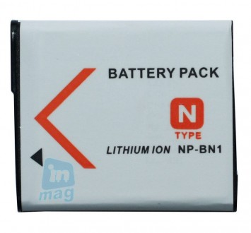 Аккумулятор для фотоаппарата Sony NP-BN1, 800-1500 mAh.. Киев. фото 1