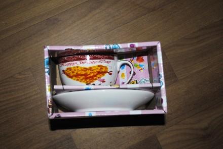 Чашка с блюдцем подарочный набор. Киев. фото 1