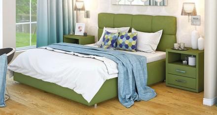 Кровать мягкая двуспальная Милея с подьемным механизмом и без. Киев. фото 1