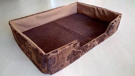 Лежак кровать лежанка для собак XL из мебельной ткани премиум класс. Днепр. фото 1