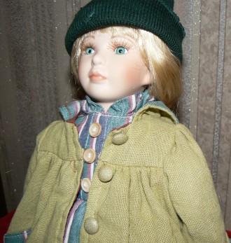 Фарфоровая коллекционная винтажная кукла. Днепр. фото 1