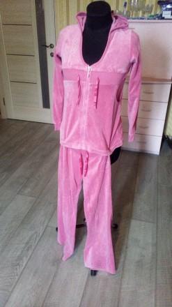 Спортивный костюмчик велюр розовый. Ирпень. фото 1