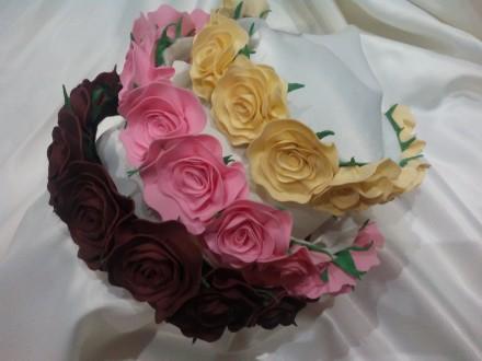 Обруч розы,ободок. Кременчуг. фото 1