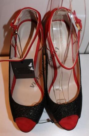 Вечерние яркие туфли с открытым носком ZARA WOMAN полностью кожаные верх нат.. Измаил, Одесская область. фото 6