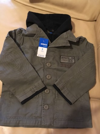 Стильная осенне-весенняя куртка для мальчика Англия Розмір — 6 років (116 см) . Измаил, Одесская область. фото 4