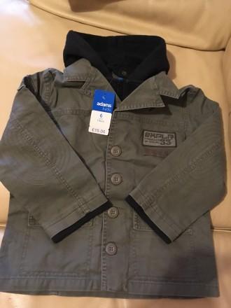 Стильная осенне-весенняя куртка для мальчика Англия Розмір — 6 років (116 см) . Измаил, Одесская область. фото 3