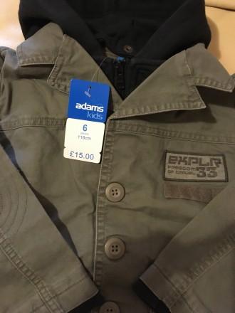 Стильная осенне-весенняя куртка для мальчика Англия Розмір — 6 років (116 см) . Измаил, Одесская область. фото 5