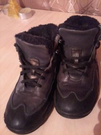 Срочно!!! Продам кожаные ботинки на натуральном меху р.32. Харьков. фото 1