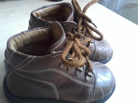 Продам кожаные ботиночки на мальчика р.21. Харьков. фото 1