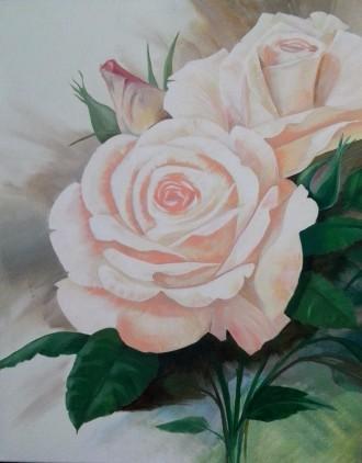 Картина, масло, холст, живопись, розы. Львов. фото 1