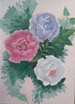 Цветы, 25х35, масло, холст на подрамнике. Львов. фото 1