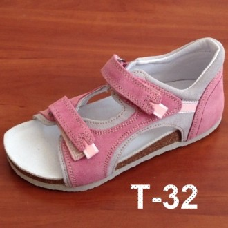 Ортопедические босоножки для детей Т-32 розовые. Сумы. фото 1