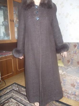 пальто зимнее женское с песцовым воротником. Николаев. фото 1