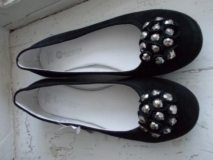 Туфли женские замшевые черные. Изготовлено в Италии.. Николаев. фото 1