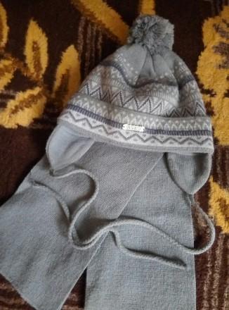 Зимняя шапка с шарфом. Мелитополь. фото 1