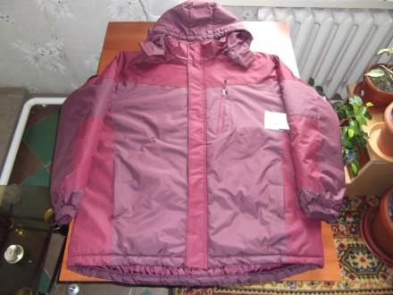 темно-вишневая теплая куртка из Америки 54р.. Синельниково. фото 1