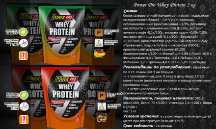 Power Pro Whey Protein 2 кг. Днепр. фото 1