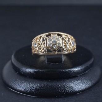 Кольца 16,5 размера (позолоченные). Винница. фото 1
