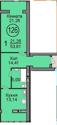 Однокомнатная квартира с документами всего за 520 000. Ирпень. фото 1