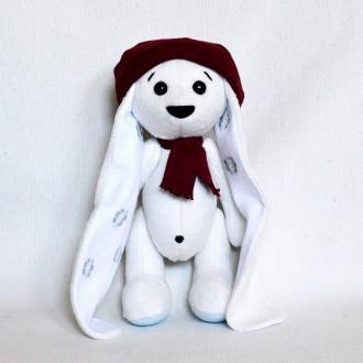 Мягкая игрушка  из плюша хенд мейд зайка Джонни. Киев. фото 1