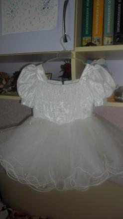платье нарядное белое фатин. Каменец-Подольский. фото 1