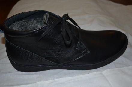 Продам новые кожаные мужские зимние ботинки отличное качество, Украина.Размеры. Верхнеднепровск. фото 1