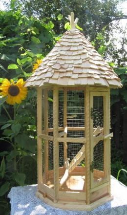 Клетка для птиц. Клетка для попугаев. Деревянная, эксклюзивная.. Бровары. фото 1