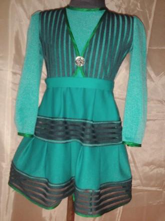 Трикотажное платье на 5-6 лет. Одесса. фото 1