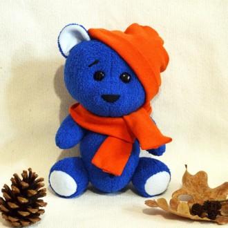 Мягкая игрушка  из ткани (искусственного меха) хенд мейд медвежонок Богданчик. Киев. фото 1