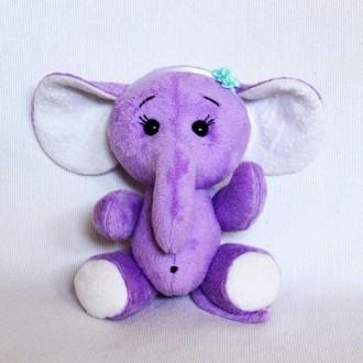 Мягкая игрушка  из плюша хенд мейд слоненок Лили. Киев. фото 1