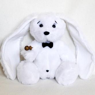 Мягкая игрушка  из искусственного меха Белый Кролик. Киев. фото 1
